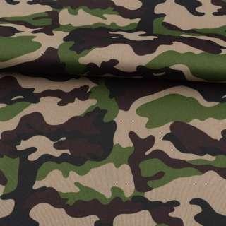 ПВХ ткань оксфорд 600D камуфляж зелено-коричневый ш.150 оптом