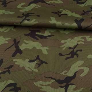 ПВХ ткань оксфорд 600D камуфляж оливково-зеленый ш.155 оптом