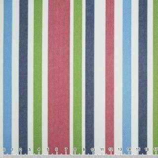 ПВХ ткань оксфорд 600 D в полоску зелено-синюю+ вишнево-белую  ш.150 оптом
