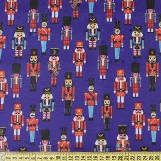 ПВХ ткань оксфорд 600 D синяя в игрушечные солдатики, ш.150 оптом
