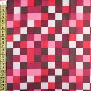 ПВХ ткань оксфорд рип-стоп красные, розовые, белые квадраты, ш.150 оптом