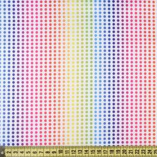ПВХ ткань оксфорд рип-стоп белая в радужные точки, ш.150 оптом