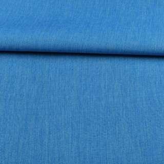 ПВХ ткань оксфорд лен 300D голубой яркий, ш.150 оптом