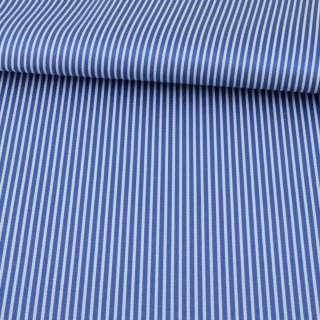 Ткань ПВХ синяя в белую полоску, ш.150 оптом
