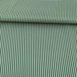 Ткань ПВХ зеленая в белую полоску, ш.150