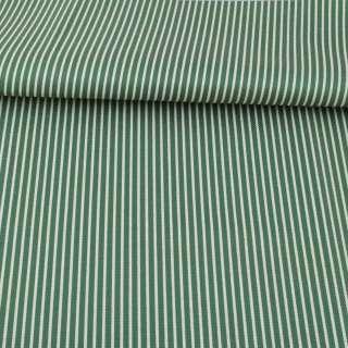 Ткань ПВХ зеленая в белую полоску, ш.150 оптом