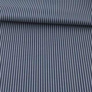 Ткань ПВХ синяя темная в серую полоску, ш.148 оптом