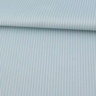 Ткань ПВХ голубая в белую полоску, ш.150 оптом