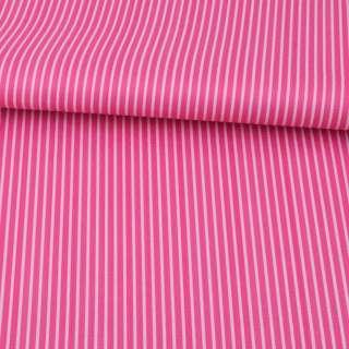 Ткань ПВХ малиновая в белую полоску, ш.150 оптом
