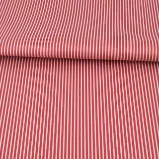 Ткань ПВХ красная в белую полоску, ш.145 оптом
