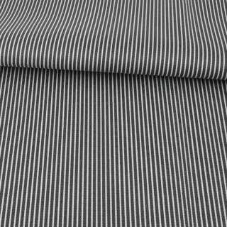 Ткань ПВХ черная в белую полоску, ш.149 оптом