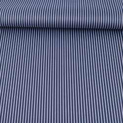 Ткань ПВХ синяя темная в белую полоску, ш.148