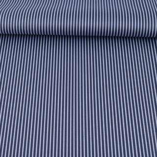 Ткань ПВХ синяя темная в белую полоску, ш.148 оптом