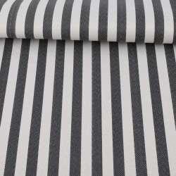 Ткань ПВХ черно-белая полоска, ш.150