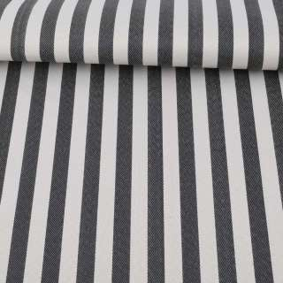Ткань ПВХ черно-белая полоска, ш.150 оптом