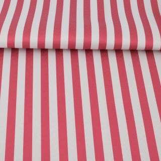 Ткань ПВХ бело-красная полоска, ш.150 оптом
