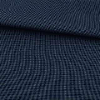 Тканина ПВХ 600D чорна в синю крапку, ш.155 оптом