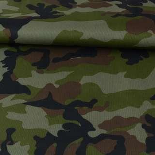 ПВХ тканина оксфорд 600D камуфляж зелено-коричневий, ш.150 оптом