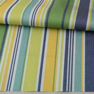 ПВХ тканина оксфорд 600D біла, зелена, жовта, синя смужка, ш.150 оптом