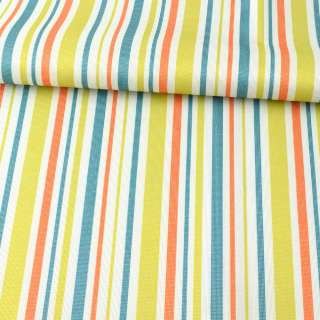 ПВХ тканина оксфорд 600D біла, салатова, помаранчева, синя смужка, ш.150 оптом