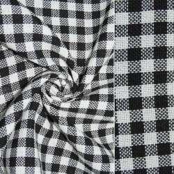Рогожка в черно-белую клетку ш.150 оптом