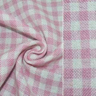 Рогожка в розово-белую клетку ш.150 оптом