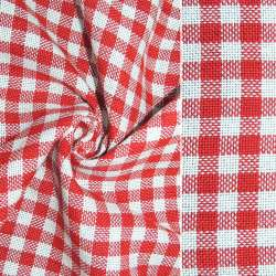 Рогожка в красно-белую клетку ш.150 оптом