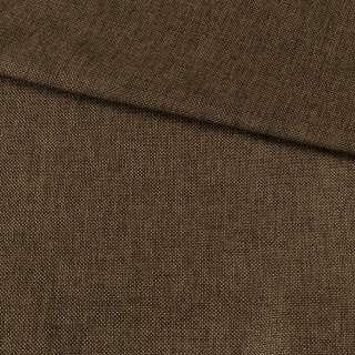 Рогожка деко коричнева меланж, ш.150 оптом
