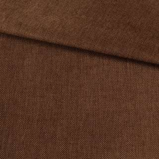 Рогожка деко коричнева темна меланж, ш.150 оптом