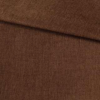 Рогожка деко коричневая темная меланж, ш.150 оптом