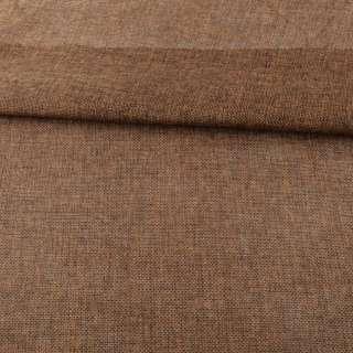 Рогожка деко коричнева меланж ш.150 оптом