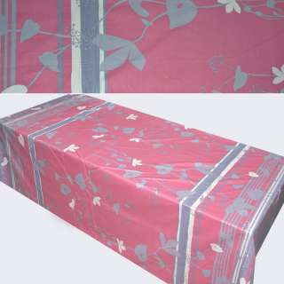 Сатин розово-серый с листьями (купон) ш.230 оптом