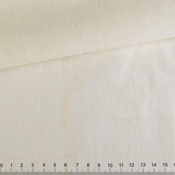 Лен рубашечный неотбеленный в структурную клетку ш.158 оптом