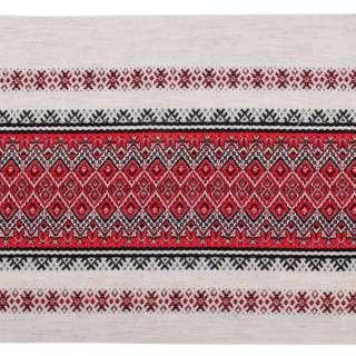 Тканина з українським орнаментом Містраль, раппорт 23см, ш.150 оптом