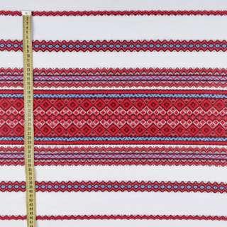 Тканина з українським орнаментом Родинна рушникова, довжина раппорта 240см, ш.148 оптом