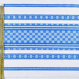 Тканина з українським орнаментом Арлекін, раппорт 40см, ш.150 оптом