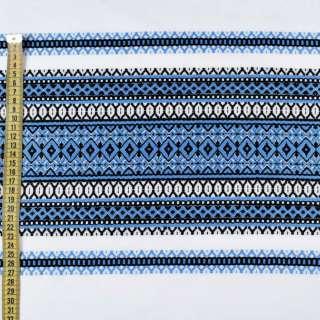 Тканина з українським орнаментом Вікторія, раппорт 70см, ш.150 оптом