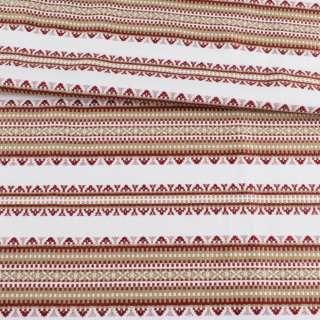 Ткань с украинским орнаментом Панночка бежевая, ш.150 оптом