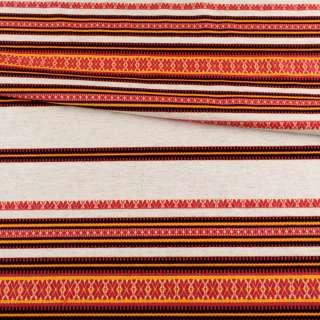 Тканина з українським орнаментом Декоративна, раппорт 45см, ш.150 оптом