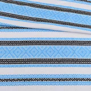 Ткань с украинским орнаментом Диана, раппорт 30см, ш.150 оптом