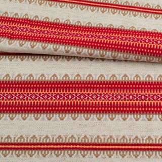 Тканина з українським орнаментом Верховина, ш.150 оптом