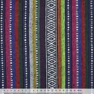 """ткань """"этно"""" фиолет.-малин.+ оранж. полосы с орнаментом ш.150 оптом"""