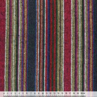 Ткань этно малиново-бежевые, зелено-белые полосы ш.150 оптом