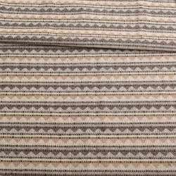 Ткань этно молочная в бежево-коричневые треугольники ш.147