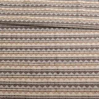 Тканина етно молочна в бежево-коричневі трикутники ш.147 оптом