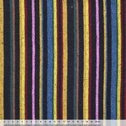 Ткань этно желто-синие, розово-черные полоски ш.150 оптом