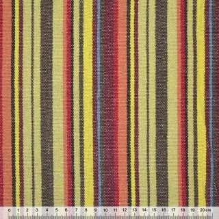 """тканину """"етно"""" коріч.-жовті + бордово-червоні смужки ш.150 оптом"""
