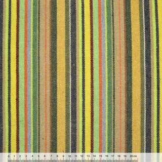 Ткань этно желто-салатовые, бежево-зеленые полоски ш.150 оптом