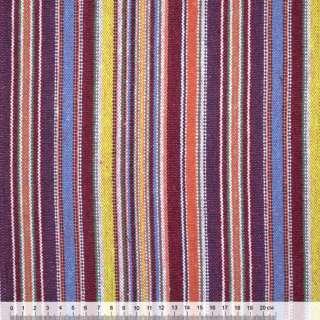 """тканину """"етно"""" бордово-жовті + бузково-блакитні смужки ш.150 оптом"""