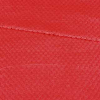 Плюш минки односторонний красный, ш.165 оптом